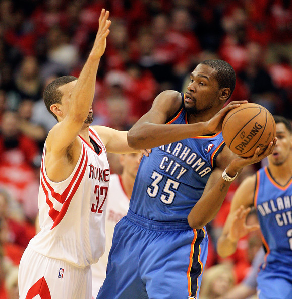 Houston Rockets Vs Okc: Kevin Durant And Francisco Garcia Photos Photos