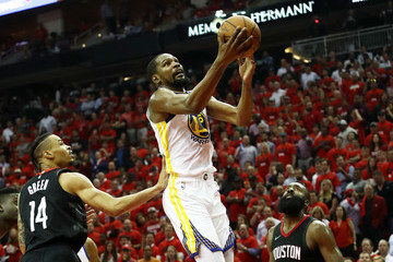 Kevin Durant James Harden Golden State Warriors vs. Houston Rockets - Game Two