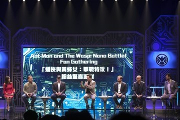 Kevin Feige Stephen Broussard Ant-Man And The Wasp: Nano Battle! Launch Ceremony In Hong Kong Disneyland