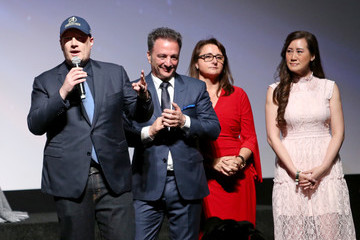 Kevin Feige Trinh Tran Los Angeles Global Premiere for Marvel Studios' 'Avengers: Infinity War'