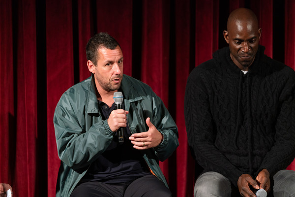 The Academy Of Motion Picture Arts And Sciences Screening Of 'UNCUT GEMS' [the academy of motion picture arts sciences hosts an official academy screening of uncut gems,red,event,performance,conversation,talent show,sitting,adam sandler,kevin garnett,moma - celeste bartos theater,new york city,academy of motion picture arts sciences hosts an official academy screening of uncut gems]