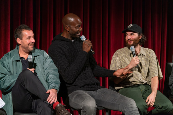 The Academy Of Motion Picture Arts And Sciences Screening Of 'UNCUT GEMS' [the academy of motion picture arts sciences hosts an official academy screening of uncut gems,event,performance,talent show,conversation,adaptation,performing arts,facial hair,heater,josh safdie,adam sandler,kevin garnett,moma - celeste bartos theater,new york city,academy of motion picture arts sciences hosts an official academy screening of uncut gems]