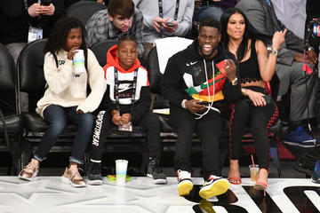 Kevin Hart Celebrities At The 67th NBA All-Star Game: Team LeBron Vs. Team Stephen