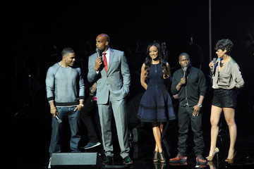 Kevin Hart Nelly Celebs at BET Networks New York Upfront