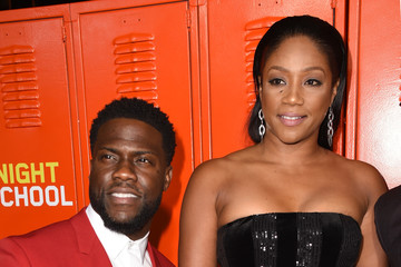 """Kevin Hart Tiffany Haddish Premiere Of Universal Pictures' """"Night School"""" - Red Carpet"""