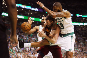 Kevin Love Marcus Morris Cleveland Cavaliers vs. Boston Celtics - Game Two