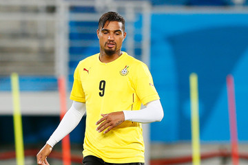 Kevin-Prince Boateng Ghana Training & Press Conference - 2014 FIFA World Cup Brazil