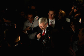 Kevin Rudd Kevin Rudd Concedes Election Defeat In Brisbane