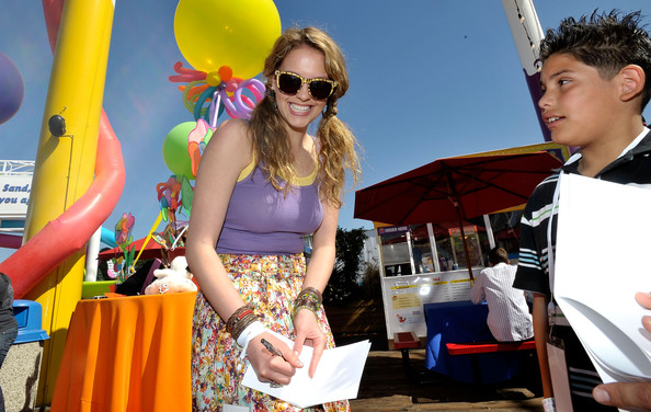 Gage Golightly Actress Gage Golightly attends the Make-A-Wish Foundation's Day of Fun hosted by Kevin & Steffiana James held at Santa Monica Pier on March 14, 2010 in Santa Monica, California.