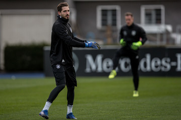 Kevin Trapp Germany Soccer Training & Press Conference