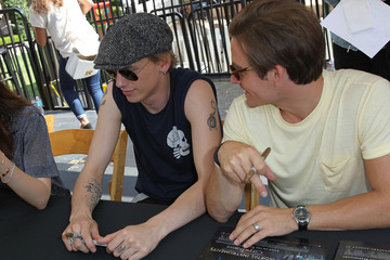 Kevin Zegers Jamie Campbell Bower 'The Mortal Instrument' Meet and Greet in Glendale