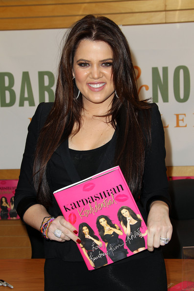 "Khloe Kardashian Author Khloe Kardashian poses for photogaphers during book signing for her book ""Kardashian Konfidential"" at Barnes and Noble on February 8, 2011 in Santa Monica, California."