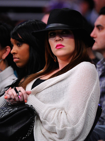 Khloe Kardashian Khloe Kardashian looks on during Game Two of the Western Conference Quarterfinals in the 2011 NBA Playoffs between the Los Angeles Lakers and the New Orleans Hornets on April 20, 2011 at Staples Center in Los Angeles, California. NOTE TO USER: User expressly acknowledges and agrees that, by downloading and or using this photograph, User is consenting to the terms and conditions of the Getty Images License Agreement.