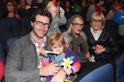 Actor Dean McDermott, Stella McDermott, Liam McDermott, actress Tori Spelling and socialite Candy Spelling at Yo Gabba Gabba! Live! There's A Party In My City! at Nokia L.A. Live on November 26, 2010 in Los Angeles, California.