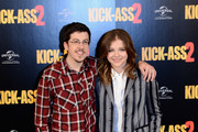 Actors Christopher Mintz Plasse and Chloe Grace Moretz attend the 'Kick-Ass 2' photo call at Claridges Hotel on August 5, 2013 in London, England.