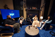 (L-R) Martell HOME LIVE host Killer Mike, interviews Charli XCX, Javier Ninja, Princess Nokia, and Big Freedia at the Martell HOME LIVE world premiere at the Greystone Court in Yonkers, New York.
