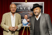 Ken Livingstone and George Galloway attend the premiere of The Killing$ Of Tony Blair at Curzon Soho on July 27, 2016 in London, England.