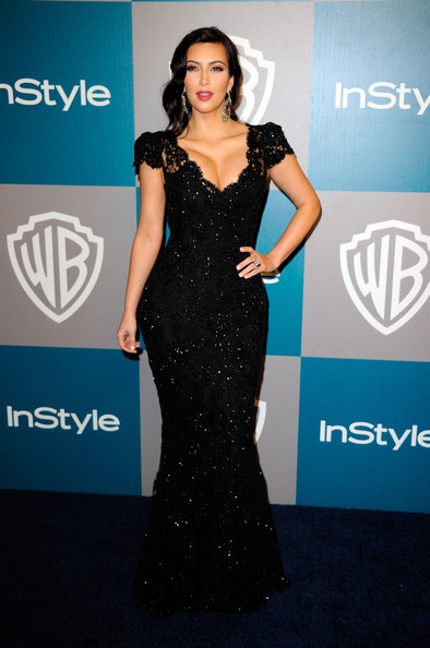 Kim Kardashian - 13th Annual Warner Bros. And InStyle Golden Globe Awards After Party - Arrivals