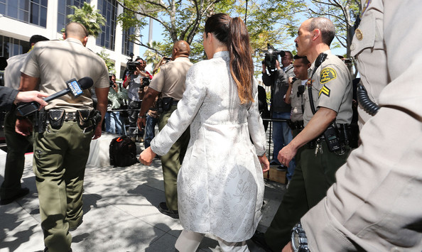 Kim Kardashian Kim Kardashian surrounded by Los Angeles County Sheriff Deputies leaves the Stanley Mosk Courthouse after attending her divorce hearing from Kris Humphries on April 12, 2013 in Los Angeles, California. Kim Kardashian and NBA player Kris Humphries are appearing for divorce proceedings. Humphries is seeking an annulment of their ten-week marriage, claiming it was based on fraud.