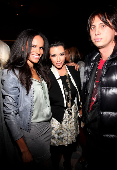 Kim Kardashian (L-R) Amanda Garrigus, Kim Kardashian and Jonathan Cheban attend the Charlotte Ronson MBFW Fall 2011 with Starbucks Frappuccino at The Stage at Lincoln Center on February 12, 2011 in New York City.