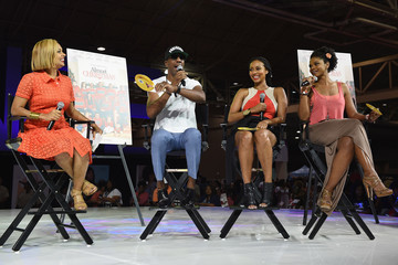 Kimberly Elise 'Almost Christmas' Cast Members Kimberly Elise, Jessie T. Usher, Keri Hilson & Filmmakers At The 2016 Essence Festival