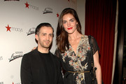 (L-R) Kinder Aggugini and Model Hilary Rhoda attends the launch of the Kinder Aggugini For Impulse Spring 2011 Capsule Collection for Macy's at Gramercy Park Hotel on January 26, 2011 in New York City.