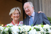 Queen Paola and King Albert II of Belgium visit Liege on July 19, 2013 in Liege, Belgium.