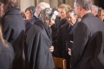 King Albert II Funeral Held for Queen Fabiola