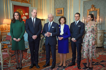 King Carl Gustaf XVI  The Duke and Duchess of Cambridge Visit Sweden and Norway - Day 1