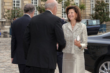 Silvia of Sweden King Carl XVI Gustaf of Sweden and Queen Silvia Attend 'Master Art' Exhibition Opening