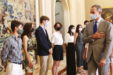 King Felipe VI of Spain Spanish Royals Receive The United World Colleges Spain Foundation