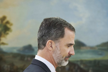 King Felipe VI of Spain Spanish Royals Receive President of Peru And His Wife