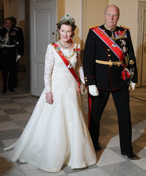 King Harald V Of Norway and Queen Sonja - Queen Margrethe II of Denmark Celebrates 40 Years on The Throne - Celebratory Service