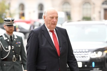 King Harald V Of Norway The Queen Attends The Anglo-Norse Society Centenary Reception