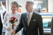 King Philippe of Belgium and Queen Mathilde of Belgium attend a Concert at Palais des Beaux Arts on June 15, 2017 in Brussels, Belgium.