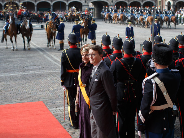 Prince Constantijn of the Netherlands and Princess Laurentien of the Netherlands arrive at the seat of the Dutch government on September 16, 2014 in The Hague, Netherlands. Dutch King Willem-Alexander officialy opens the parliamentary year by reading a speech outlining the government plans for the year ahead.