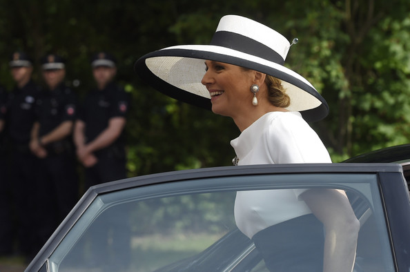 Queen Maxima of The Netherlands arrives at Oldenburg University on May 26, 2014 in Oldenburg, Germany.