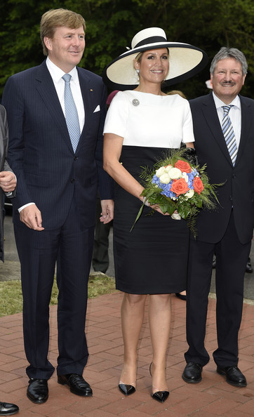 King Willem-Alexander of the Netherlands and Queen Maxima are pictured while leaving the AUDI eGas research facility on May 26, 2014 in Werlte, Germany. The King and the Queen are on a two day journey across the State of Lower Saxony and North Rhine-Westphalia of Germany.