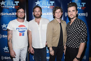 (L-R) Nathan Followill, Caleb Followill, Matthew Followill, and Jared Followill of Kings Of Leon pose before performing a private concert for SiriusXM at (Le) Poisson Rouge; performance Airs live on SiriusXM's Alt Nation Channel on October 12, 2016 in New York City.