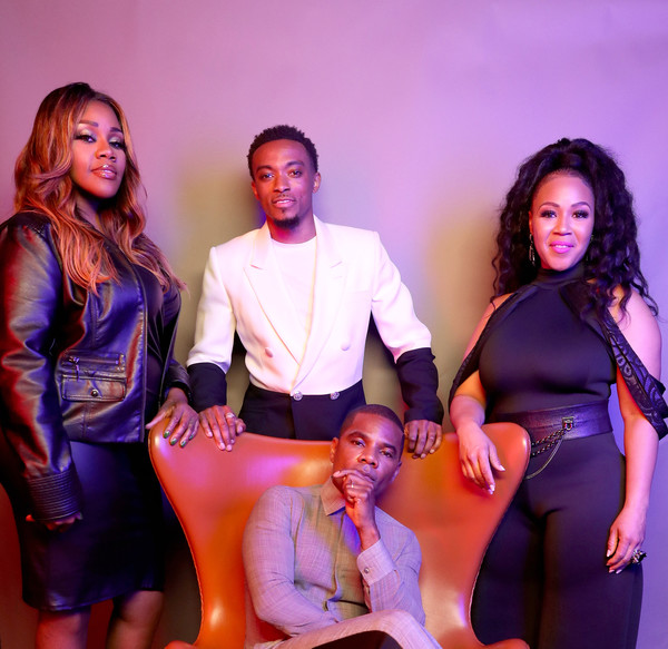 BET Awards 2019 - Portraits [portraits,portrait,performance,event,fashion,fun,stage,performing arts,dance,talent show,suit,party,kelly price,erica campbell,kirk franklin,jonathan mcreynolds,bet awards,l-r,california,los angeles]