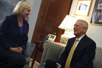 Kirsten Gillibrand Trump's Selection For Defense Secretary Meets With Sen. Gillibrand At The Capitol