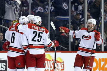 Klas Dahlbeck Carolina Hurricanes v Winnipeg Jets