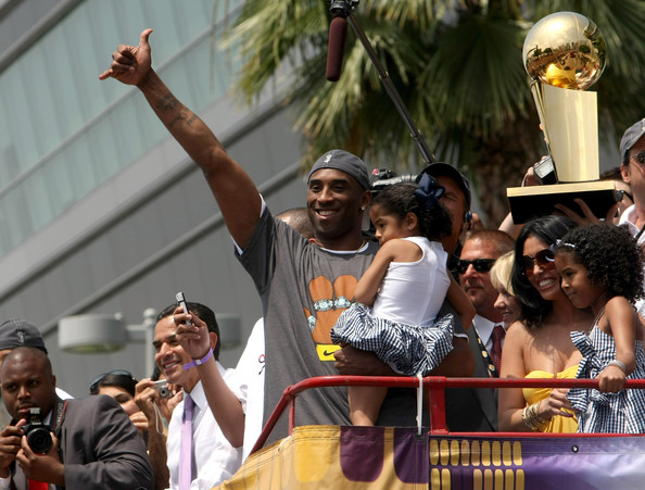 Kobe Bryant and Natalia Bryant - Los Angeles Lakers NBA Finals Championship