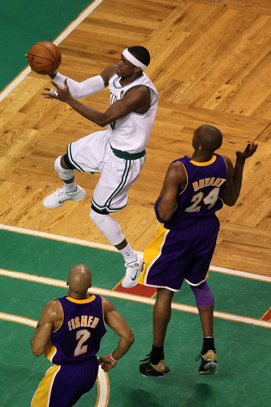 Rajon Rondo and Kobe Bryant - NBA Finals Game 5: Los Angeles Lakers v Boston