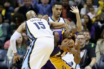 Kobe Bryant Courtney Lee Los Angeles Lakers v Memphis Grizzlies