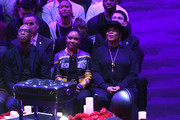 Chauncey Billups and Queen Latifah attend The Celebration of Life for Kobe & Gianna Bryant at Staples Center on February 24, 2020 in Los Angeles, California.
