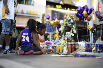 Kobe Bryant Gianna Bryant Fans Continue To Pay Respects To Kobe Bryant At Memorial Outside Of Staples Center And Around L.A.