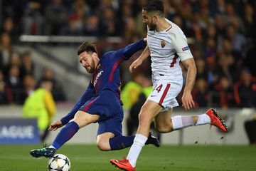 Konstantinos Manolas FC Barcelona VS. AS Roma - UEFA Champions League Quarter Final Leg One