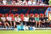 The Germany staff members looks dejected during the 2018 FIFA World Cup Russia group F match between Korea Republic and Germany at Kazan Arena on June 27, 2018 in Kazan, Russia.