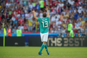 Thomas Mueller of Germany reacts during the 2018 FIFA World Cup Russia group F match between  Korea Republic and Germany at Kazan Arena on June 27, 2018 in Kazan, Russia.